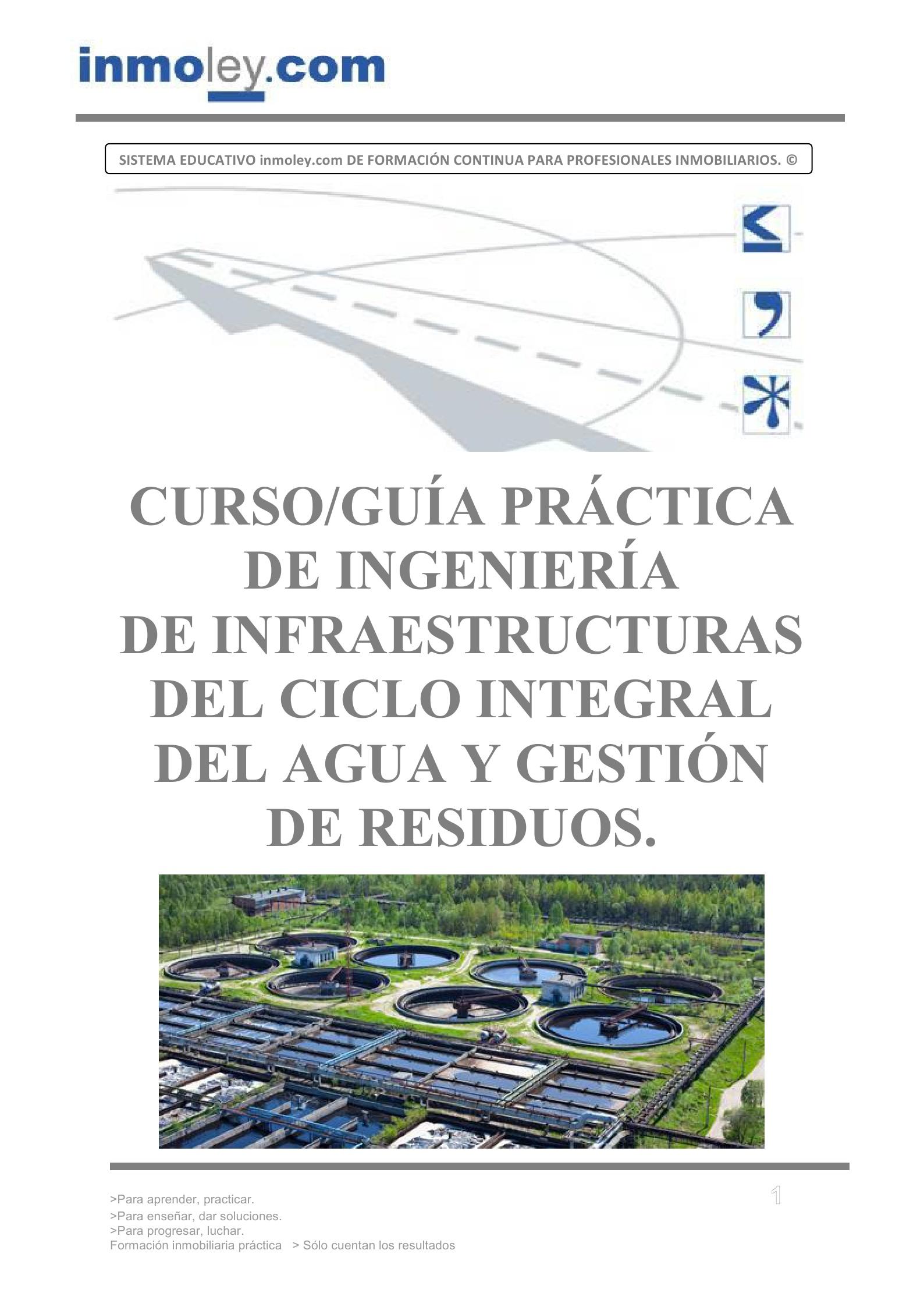 INGENIERÍA DE INFRAESTRUCTURAS DEL CICLO INTEGRAL DEL AGUA Y GESTIÓN ...